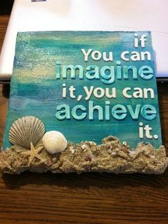 Dream Big! This beachy inspired  canvas is easy to create and looks amazing.