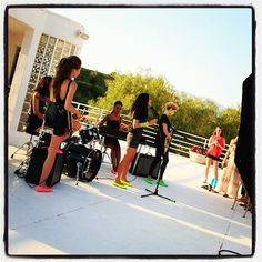 Behind the scenes shooting #NeonTieks