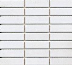 Mosaiikki Luca 2,2 x 7,2 cm valkoinen matta. Mosaic Luca 2,2 x 7,2 cm, white matte. www.k-rauta.fi