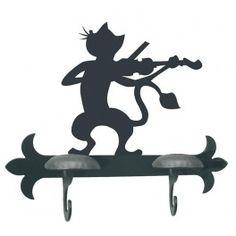Perchero Gato Violinista