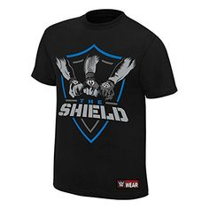 Discounted WWE The Shield Shield United Authentic T-Shirt Black Medium Wwe Shirts, Wwe The Rock, The Shield Wwe, Graphic Tee Shirts, Black Media, The Unit, Mens Tops, How To Wear, T Shirt