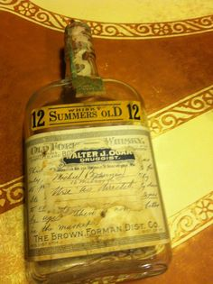 A labeled whiskey bottle dispensed on prescription.  I WANT IT.