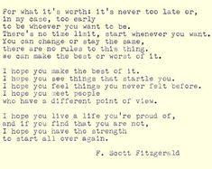 F. Scott Fitzgerald Hand eingegeben Angebot von WhiteCellarDoor