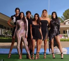 Still going strong: The Kardashian-Jenner clan recreate the original opening credits of Ke...