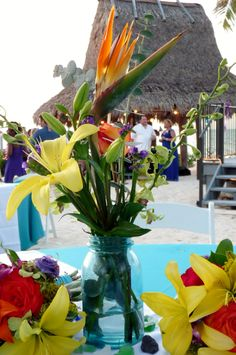 #Key Largo Conch House weddings Conch House, Tropical Weddings, Vows, Table Decorations, Flowers, Beautiful, Home Decor, Key Largo, Homemade Home Decor