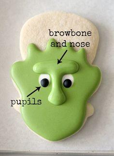 How to make Frankenstein Cookies 1