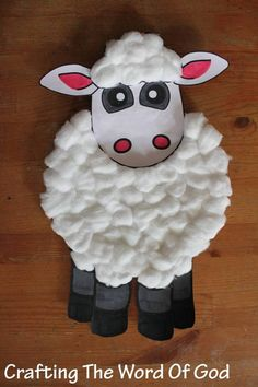 Paper Plate Sheep 1