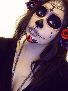 Sugar Skull makeup for Joe & Jen's Dia de los Muertos anniversary party