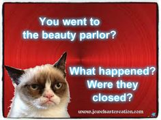 You went to the beauty parlor?  What happened?  Were they closed?