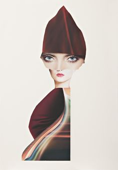 Fast Lady, Collage / mixed media by Lee McConville   Artfinder