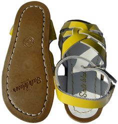Yellow Sandals from Saltwater I love these !! Khloe had them in brown and I want them in every color !!