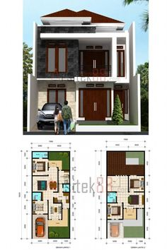 Trendy Home Renovation Bathroom Small Layout Ideas 2 Storey House Design, House Front Design, Small House Design, Modern House Design, Modern House Plans, Small House Plans, House Floor Plans, Architectural Design House Plans, Architect Design
