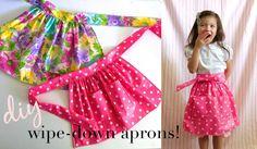 Wipe down apron #diy