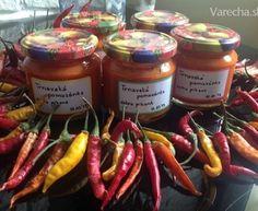 Trnavská pikantná nátierka (jednoduchá) Preserves, Sausage, Food And Drink, Canning, Meat, Red Peppers, Preserve, Sausages, Preserving Food