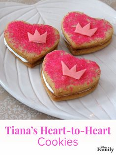 Being the proprietress of one of New Orleans favorite restaurants, it's only fitting that Princess Tiana would serve an extra sweet treat on Valentine's Day. These heart-shaped sandwich cookies, filled with frosting and topped with sparkly pink sugar, are sure to please anybody's prince charming — even if he happens to be a frog.  Head over to Disney Family for the delicious dessert recipe!