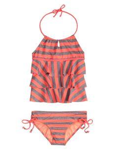 Neon Stripe Tankini Swimsuit | Tankinis | Swimsuits | Shop Justice