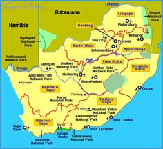 South Africa Map Tourist Attractions - http://travelsfinders.com/south-africa-map-tourist-attractions.html