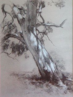John McCartin - Dappled Light, Charcoal & Chalk …