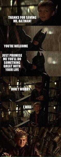 We all hate Batman for Saving this kid - Batman,game of thrones,Joffrey Baratheon