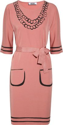 ShopStyle: Moschino Cheap and Chic Belted trompe l'oeil crepe-jersey dress