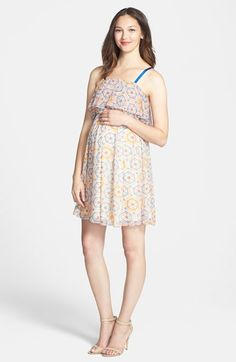 Maternal America Ruffle Maternity Dress available at #Nordstrom