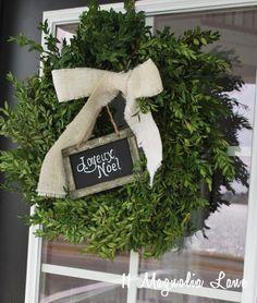 Embellish a Home Depot boxwood wreath