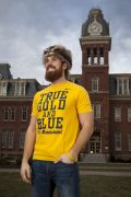 Jonathan Kimble is the new Mountaineer Mascot replacing Brock Burwell. He was the backup mascot last year.