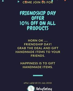 Horn ON & OK! Grab the offer before friendship day. This friendship day make your freinds feel special by gift handmade items. Friendship Day Special, Friendship Day Gifts, Gifts For Gf, Bf Gifts, Handmade Frames, Handmade Items, Handmade Gifts, Bff Tattoos, Bff Goals