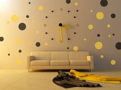 Pokla Dots Removable Wall Vinyl Art, decals stickers by StreamlineDesign on Etsy