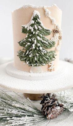 Pretty Cakes, Beautiful Cakes, Amazing Cakes, Wedding Themes, Wedding Colors, Wedding Cake, Winter Wonderland Cake, Christmas Cake Designs, Cake Decorating