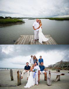 Charleston Wedding on Folly Beach, South Carolina via Priscilla Thomas Photography