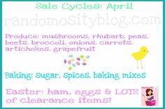 Cycles to find things on sale in April