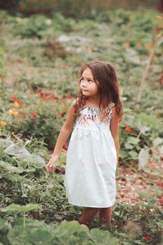 Girls Handmade Protea Print Boho Dress | bittybambu on Etsy