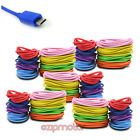 5X 8-COLOR 6FT MICRO USB DATA SYNC CHARGER CABLE SAMSUNG GALAXY S2 S3 NOTE NEXUS