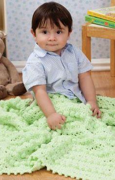 Bobble Baby Blanket Free Crochet Pattern from Red Heart Yarns