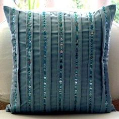 AquaTonic - Decorative Pillow Covers - Suede Pillow Cover with Aqua Sequins :     Price: $23.41    .Customer Discussions and Customer Reviews.Check Price >> http://gethotprice.com/appin/?t=B004NPQKZW