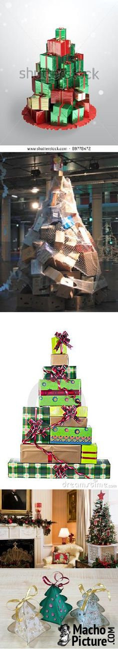 Christmas tree boxes - 6 PHOTO!