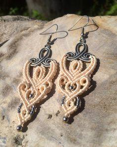 A personal favorite from my Etsy shop https://www.etsy.com/listing/508560242/macrame-earrings-beige-earrings