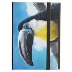 Toucan in Misty Air digital tropical bird painting iPad Air customizable case