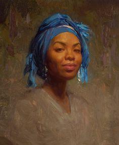 Scott Burdick 2009 'Andrea in Blue Scarf'