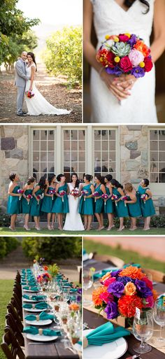 Multicultural Teal Summer Ranch Wedding in California - WeddingWire: The Blog