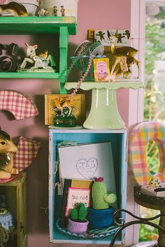 a couple of new cute cupboards for storing beautiful things