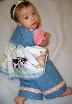 Sweet Little Noahs Ark three piece Dress Set by playpatch on Etsy, $40.00
