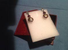Orecchini argento brunito con granato e perla di fiume, by GIOBijoux, 20,00€ su misshobby.com