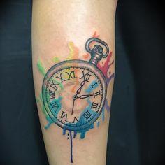 Photo by (naama_levy5) on Instagram | #tattoo #tatouage #tatua #pocketwatch #time #timing #watercolor #colourink #drippingpaint #drawingonskin #ink #inked #tattoo #art #theartoftatto #tattooart #tattooed #inked #tatuaje #inkstagram #tattoossavedmylife #tattootime #lovetattoos #theartoftattoo #israeltattoo #telavivtattoo #lowerlegtattoo Lower Leg Tattoos, Time Tattoos, Drip Painting, Watercolor Tattoo, Tattoo Designs, Ink, Tattoo Art, Google, Instagram