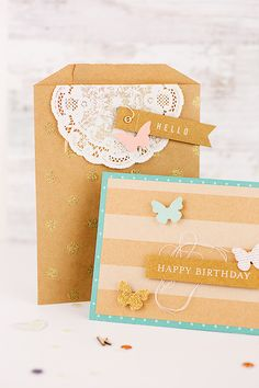 and - wishing you the happiest and most beautiful of birthdays! Birthday Cards, Happy Birthday, Paper Crafts, Diy Crafts, Paper Art, Karten Diy, Stationery Pens, Paper Butterflies, Pretty Cards