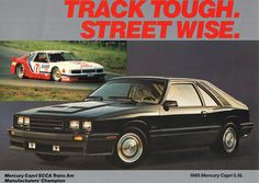 1985 Mercury Capri 5.0L RS by coconv, via Flickr... Had one just like it.... Loved it!