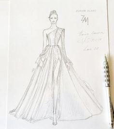 601 個讚,8 則留言 - Instagram 上的 NataliaZ.Liu(@nataliazorinliu):「 Unfinished #handdrawn #sketch #workinprogress #zuhairmurad #sketching #fashionillustration… 」