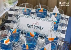 Planning a nautical baby shower? Here are 15 great nautical baby shower ideas for you to use in your planning. Great food and decoration ideas! Baby Shower Food For Girl, Baby Shower Niño, Boy Baby Shower Themes, Baby Shower Favors, Shower Party, Baby Shower Parties, Baby Boy Shower, Shower Games, Nautical Baby Shower Cakes