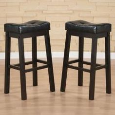 @Overstock - Enrich your home decor with a pair of soft tufted-seat saddle bar stools. This Hadden bar furniture features solid hardwood construction that is built to last.http://www.overstock.com/Home-Garden/Hadden-Bicast-Leather-30-inches-Height-Tufted-Saddle-Barstool-Set-of-2/5254753/product.html?CID=214117 $134.29